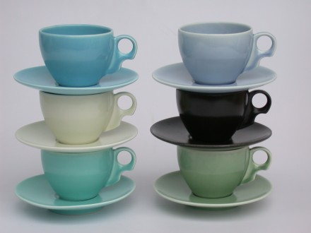 Cups and Saucers Six