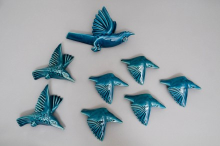 Flying Birds Soda Turquoise