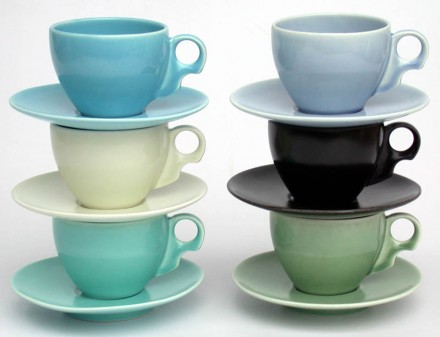 Teacups and Saucers stacked x 6