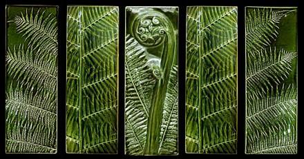 Triptych Plus Moss Fronds