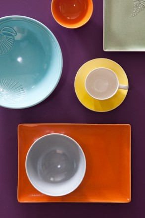 Colourful tableware