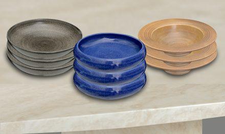 Custom plates and bowls in custom glazes